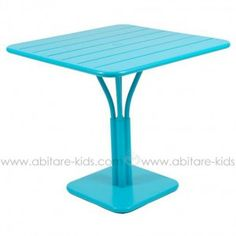 LUXEMBOURG by Fermob Table 80x80 cm turquoise