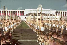 Reich Congreso del Partido, Nuremberg, Alemania, 1938.