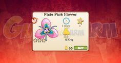 Nuova coltivazione a Ed. Limitata disponibile nel Market fino al 26/11/2017: Pixie Pink Flower tempo stimato per la lettura di questo articolo 1  Nuova coltivazione a Edizione Limitata disponibile nel Market dal 27/09/2017 fino al 26/11/2017  Pixie Pink Flower  Livello minimo: 5  Matura in: 23 ore  Costa: 65 Coins  Fa guadagnare 1 XP  Rende: 129 Coins  Mastery: 600 / 600 / 600 (tot. 1.800)
