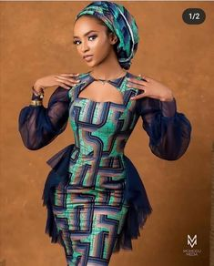 Short African Dresses, Latest African Fashion Dresses, African Print Fashion, Africa Fashion, Ankara Fashion, Ankara Dress Designs, Ankara Dress Styles, African Fashion Traditional, African Attire