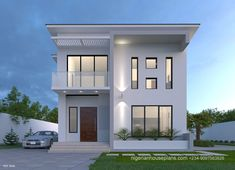 Double Story House Plan For 85 Square Meters – Amazing Architecture Magazine Double Storey House Plans, Double Story House, Two Story House Design, Modern Small House Design, House Front Design, Bungalow Style House, Bungalow House Plans, Duplex House Plans, Modern House Plans
