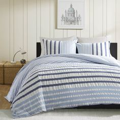 INK+IVY Sutton Blue Duvet Cover 3 PIece Set | Overstock.com Shopping - The Best Deals on Duvet Covers