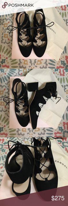 "Loeffler Randall Lexi Lace-up Block Heel NEW NEVER WORN (only tried on) Loeffler Randall Lexi lace-up block heels, black suede, 2.2"" heel. Loeffler Randall Shoes Heels"
