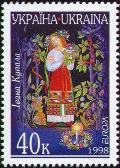 Ukrainian stamp -  woman costume