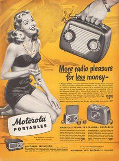 Motorola Portables Radio Beach Girl - Mad Men Art: The 1891-1970 Vintage Advertisement Art Collection