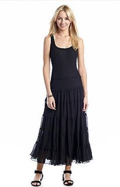 NWT Ladies Evan-Picone Dress Sleeveless Maxi Dress - Black - Size 8 #EvanPicone #Maxidress #Casual