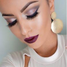 "Anastasia Beverly Hills Brow Wiz ""Brunette"" and Brow gel ""Caramel"". Mac ""Feline"" on water line, Mac ""Vino"" lip pencil and ""Lingering kiss"" lipstick. Armani luminous silk foundation and LA girl cosmetics concealer. #glamrezy"