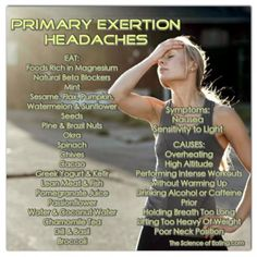 Do you ever experience headaches while exercising? If so, check out these reasons and cures to keep your workout headache free!