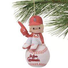 Precious Moments St. Louis Cardinals Number 1 Fan Girl Ornament  #Fanatics