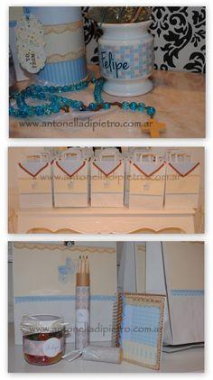 Souvenirs para niños y souvenirs para adultos . Cumpleaños. Bautismo Baby Shower http://antonelladipietro.com.ar/blog/2012/11/bautismo-beige-celeste/