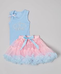 Look at this Beary Basics Blue Sequin Crown Tank & Pettiskirt - Toddler & Girls on #zulily today!
