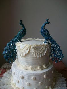 Wedding Cake Topper - Peacock