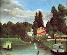 El molino de Alfort, óleo sobre lienzo de Henri Rousseau (1844-1910, France)