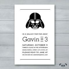 Darth Vader Birthday Party Invitation    by PandafunkCreations