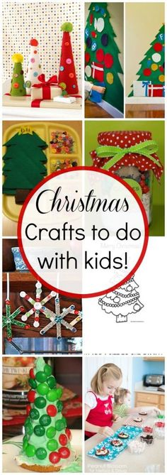 10 Christmas Crafts to do with your kids! - Click for more ideas!