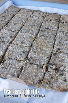 Crackers aux graines, flocons d'avoine et farine de seigle – Mes brouillons de cuisine