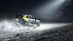 Gleich mit der Veröffentlichung des neuen e-Corsa wurde auch eine Rally-Variante des neuen Corsa erstellt. Peugeot, Automobile, Racing, Vehicles, Car, Automotive Industry, Cars, Rally, Opel Corsa