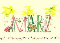 "Nathan saved to himmel""Mars"" illustration de Nina Chen, artiste allemand. 2012 Calendar, Calendar Girls, Illustrator, Corona Floral, Hello March, March Month, Months In A Year, 12 Months, Seasons Months"