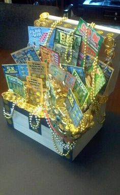 Treasure chest lottery basket