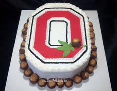 Awesome Ohio State Buckeyes Cake