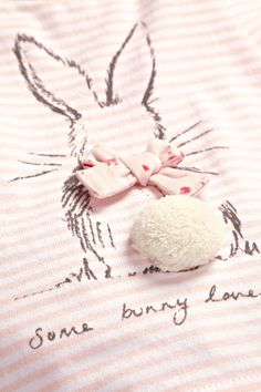 Pink Stripe Bunny T-Shirt