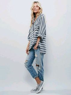 Not sure about the stripes, but the style is super casual and comfy - love it.