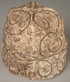 Elizabethan period, 16th century British, Men's cap.