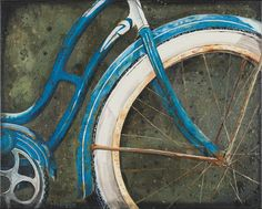 Blue Bicycle 16x20 Print by RebeccaLeighFineArt on Etsy