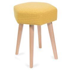 Tabouret en bois jaune YEP