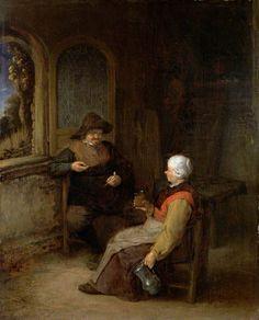Adriaen van Ostade - Een huiskamer