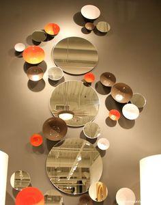 wall bowls mixed with mirrors @Global Views