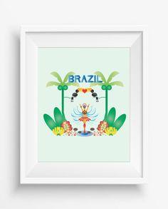 Brazil,Brazil Print,carnival,natural fruit art,digital prints,home decor