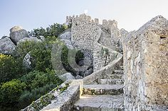 Castle of the Moors 1 stock image. Image of flag, castelo - 37768763 Chateaus, Fortification, Medieval Castle, Santa Maria, Heritage Site, Lisbon, Portuguese, Mount Rushmore, Christian