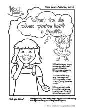 What to do when you #loose a #tooth? Color in this activity sheet online while learning tips for your tooth! Dentists4kids, pediatric dentist locator @ www.dentists4kids.com #Dentists4Kids #pediatric_dentist
