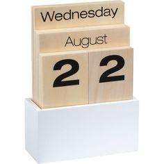 The timeless calendar that never expires  Nice, simple design for perpetual, reusable calendar pieces.