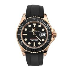 Pre-owned Rolex Yacht-Master 116655 Gents Automatic watch. 40 mm Rose Gold case, with Black dial. Pre Owned Rolex, Pre Owned Watches, Louis Vuitton Watches, Mens Rose Gold Watch, Buy Rolex, Rolex Watches For Men, Rolex Oyster Perpetual, Gold Hands