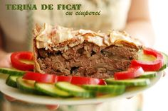 Terina de ficat cu ciuperci Romanian Food, Meatloaf, Bacon, Beef, Meat, Meat Loaf, Ox, Ground Beef, Steak
