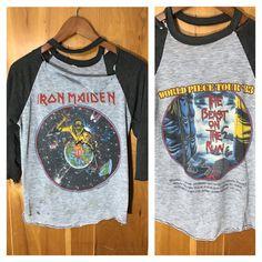 Iron Maiden World Piece 1983 Tour Shirt Original Heavily Distressed