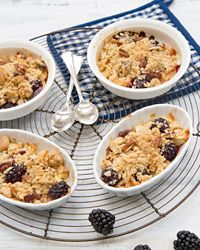 Blackberry and Apple Crisp with Nut Topping Recipe on Food & Wine