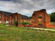 B & O Railroad Roundhouse, which was burned by General Stonewall Jackson during the Civil War in Martinsburg, WV