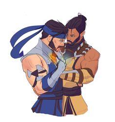 Scorpion Mortal Kombat, Mortal Kombat Art, Mortal Combat, Handsome Anime Guys, Fujoshi, Fan Art, Fictional Characters, Anatomy, Friendship