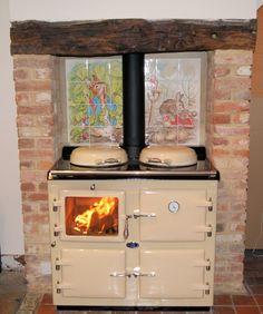Cream Wood wood fired Burning AGA