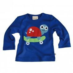 Skate boarding snail by Frugi - organic cotton clothing for kids, huge range available at Toucan Kids