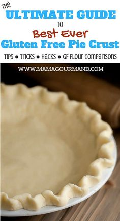 ultimate guide to making the Best Ever Gluten Free Pie Crust. This flaky, tender gluten free pie crust recipehandles just as pie crust should and is fabulously easy to roll out. Gluten Free Pie Crust, Pie Crust Recipes, Gluten Free Flour, Gluten Free Baking, Gf Pie Crust Recipe, Gluten Free Pumpkin Pie, Cake Recipes, Gluten Free Sweets, Gluten Free Dinner