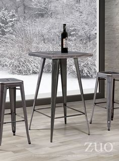Zuo Olympia Bar Table Gunmetal, 601189 – Culture&Cotton