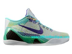 detailed look a126d 01adf Chaussures Nike BasketBall Pas Cher Pour Homme Nike Kobe 9 IX Elite Low iD  Vert 639045-ID1