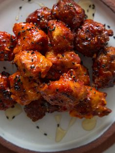 Korean Chicken Nuggets recipe with a sweet and spicy Korean BBQ sauce