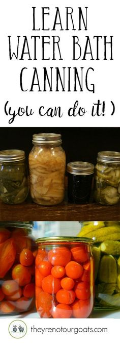 Learn the basics of water bath canning & get a free printable checklist!
