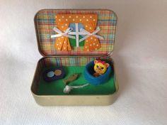 Stocking Stuffer Cat/Kitten Altoids Tin Toy Squinkies/ Quiet Time Tin , Travel Toy, Valentines Day Gift