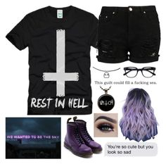 """sad punk teen"" by alternativepunkbxtch on Polyvore featuring Dr. Martens and EyeBuyDirect.com"